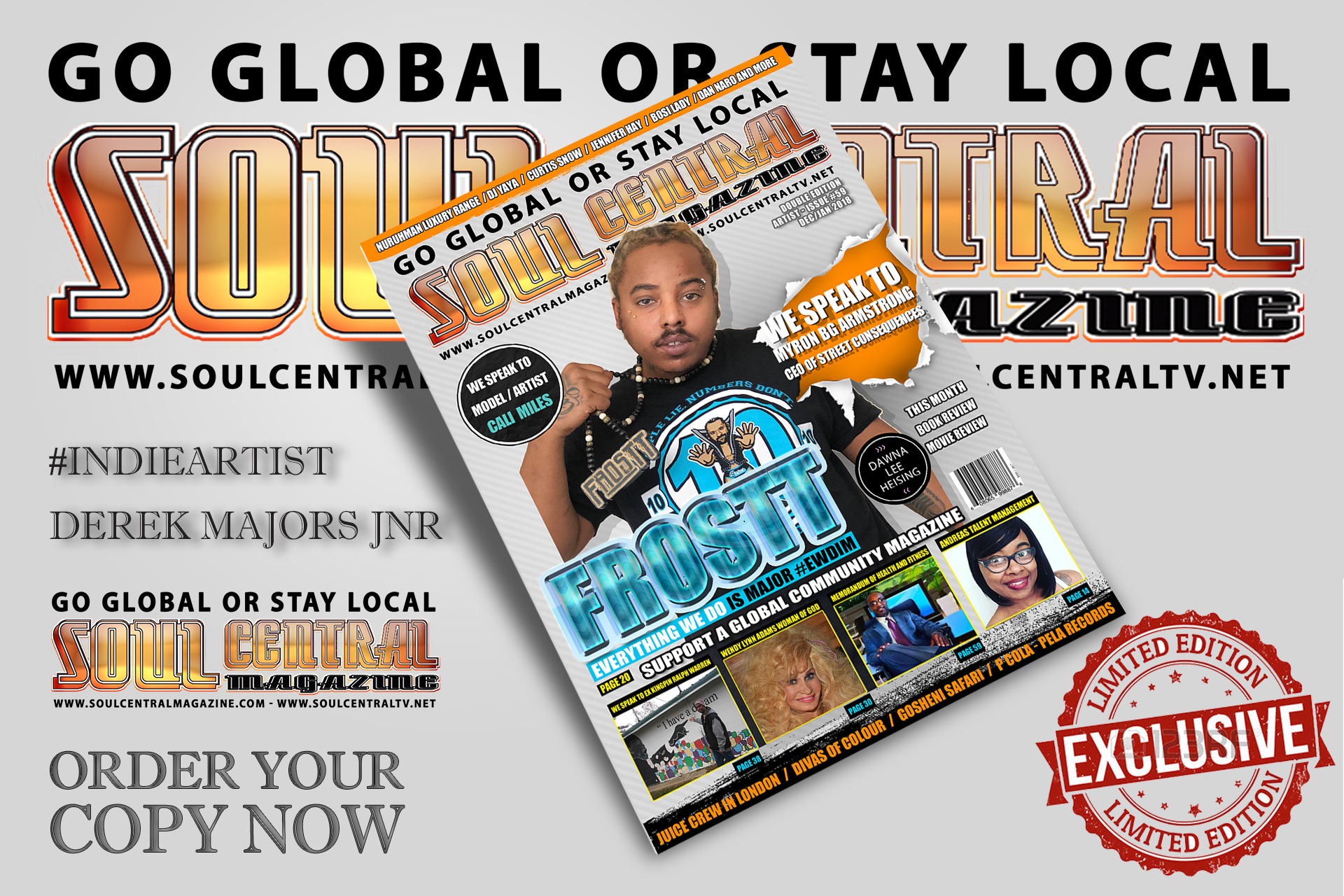 Book your magazine cover in advance NOW! - Soul Central Magazine