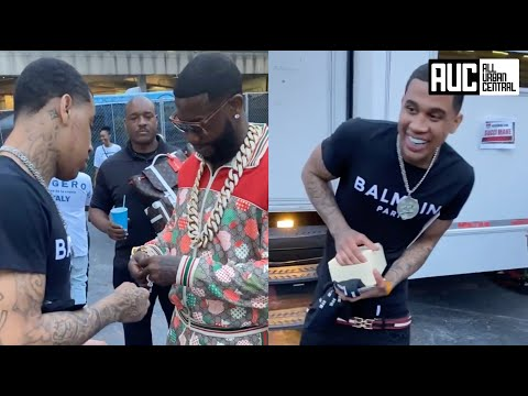 Gucci Mane Blesses His Artist HotBoy Wes With A Rolex After Performing At Birthday Bah