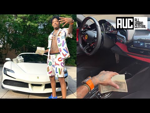 21 Savage Buys $1M Ferrari Then Gives Out Backpacks To Kids In Zone 6