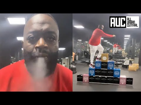 Rick Ross Does Crate Challenge While Smoking ZaZa 😂
