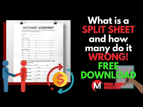 What is a SPLIT SHEET and how many do it wrong! FREE DOWNLOAD