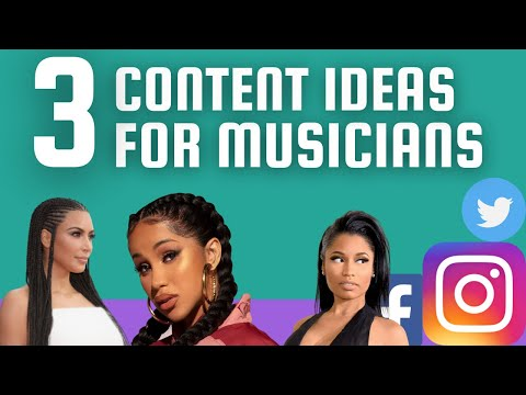3 Content Ideas for Musicians on Social Media   Content Marketing For Music   Step by Step